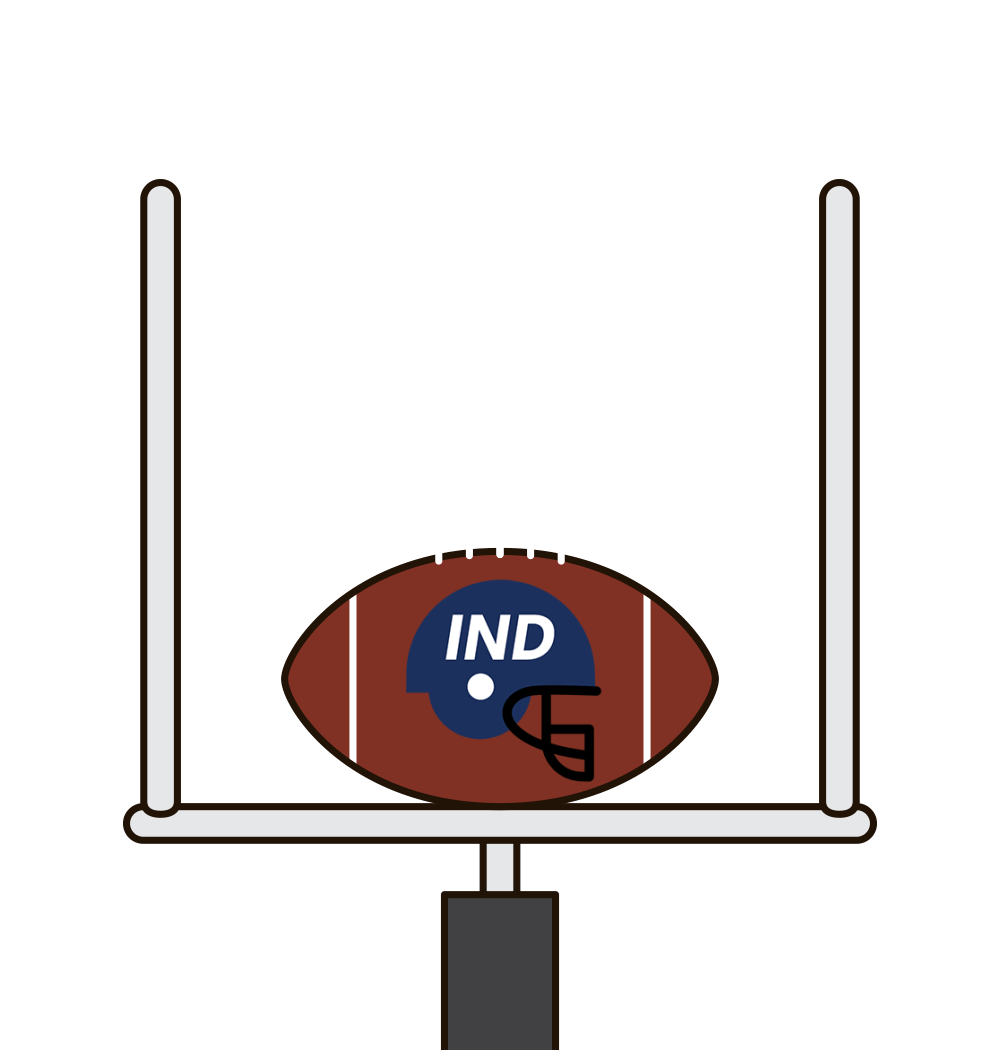 field goals attempted for the colts
