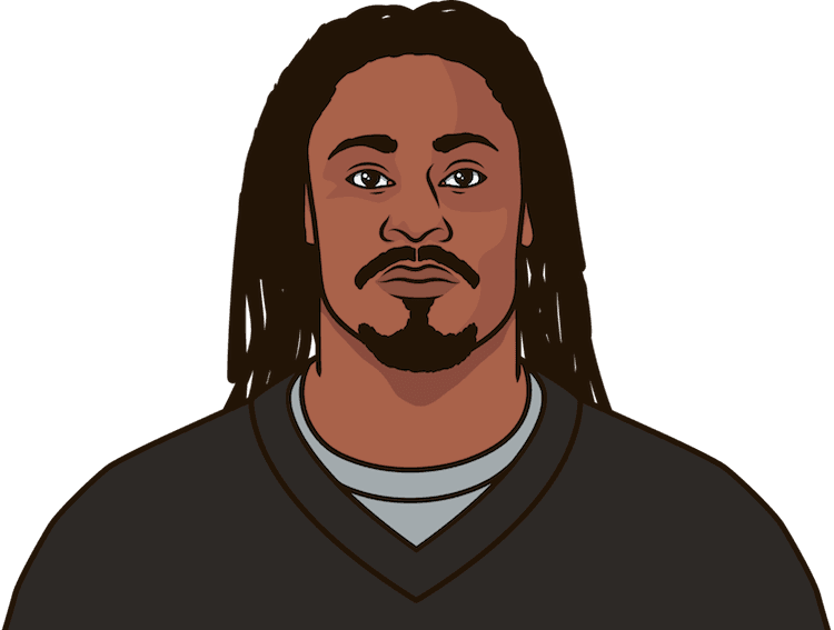 What are the most yards from scrimmage in a game this season by Marshawn Lynch?