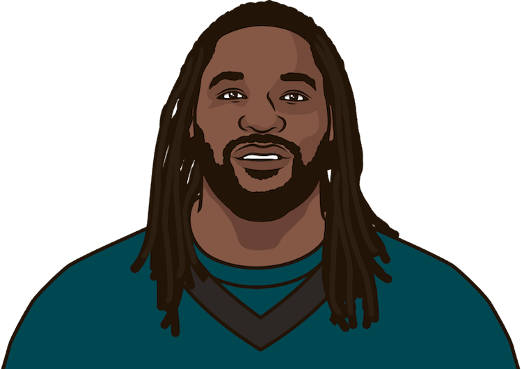 Who was the last Eagles player with at least 136 rushing yards in a regular season game?