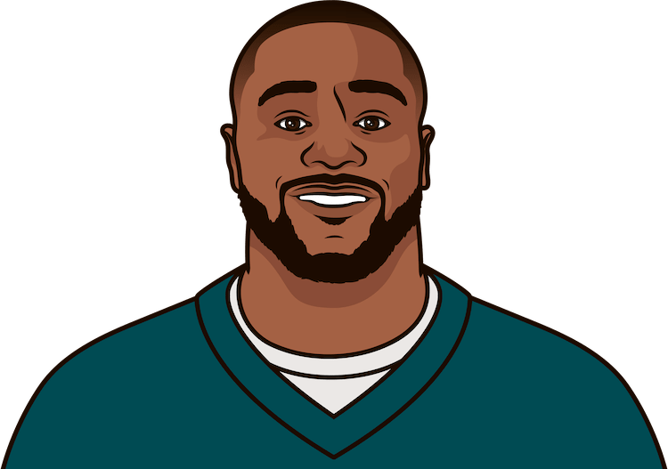 most rushing yards by a eagles player this season