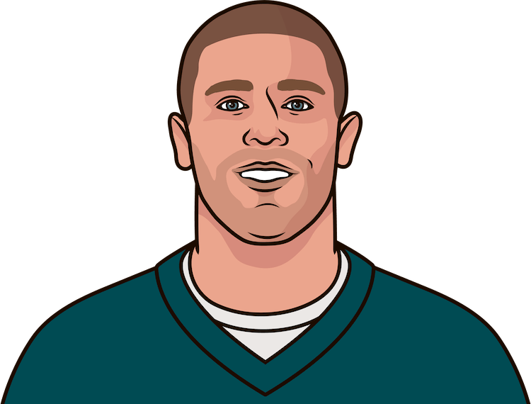 how many receptions does zach ertz have this year