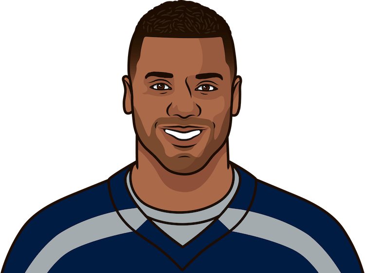 russell wilson record in playoffs since 2015