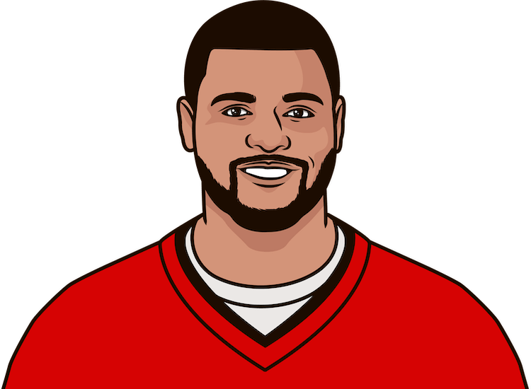 mike evans recieving tds since 2016
