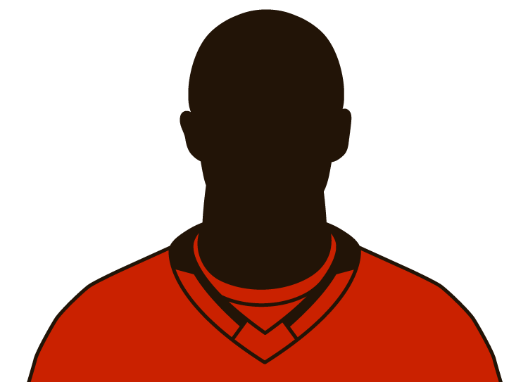 Illustrated silhouette of a player wearing the Calgary Flames uniform