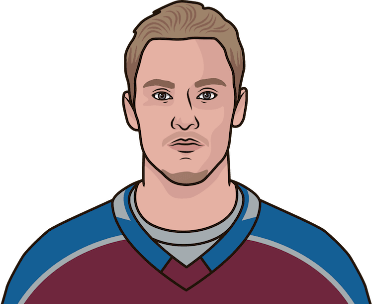 who has the most goals in a game this season for the colorado avalanche