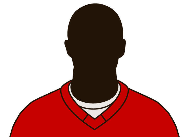 Illustrated silhouette of a player wearing the Detroit Red Wings uniform