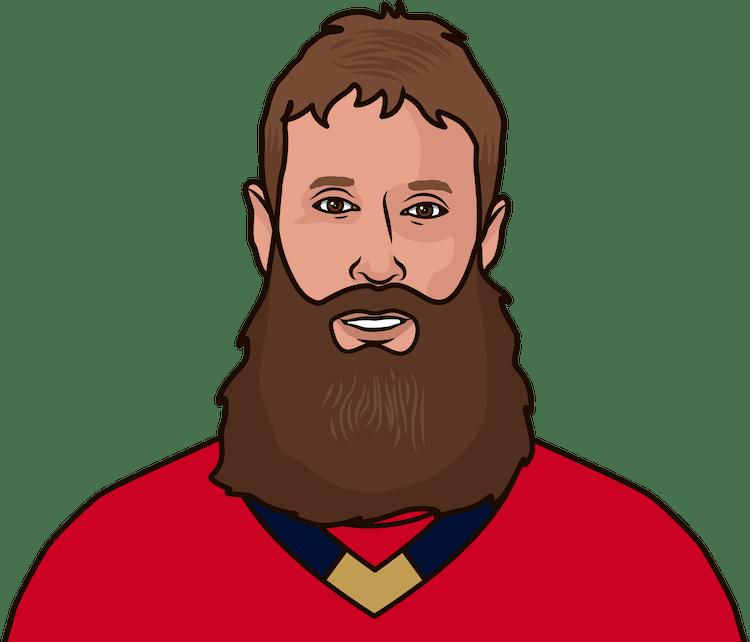 Illustration of Joe Thornton wearing the Florida Panthers uniform