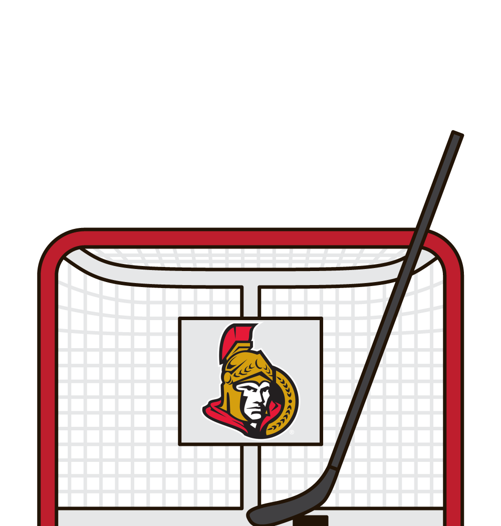 who has the most career shots for the ottawa senators