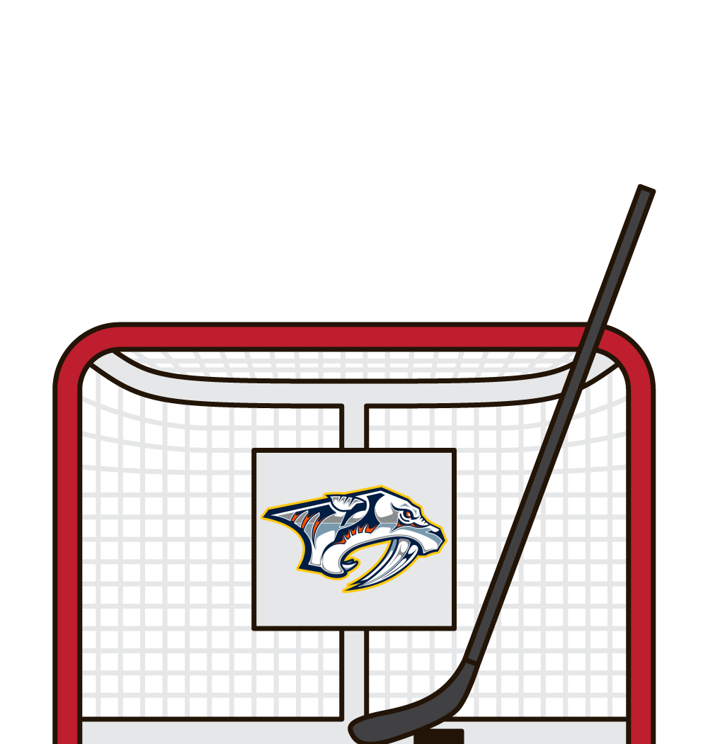 who has the most shots in a game for the nashville predators
