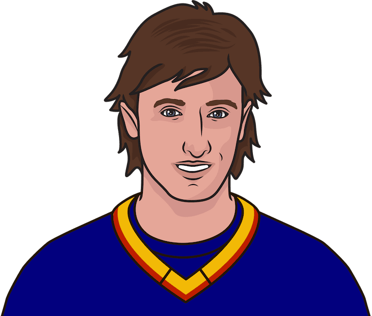 How many goals did Wayne Gretzky score with the Blues?
